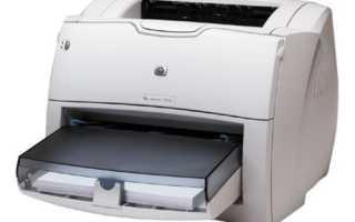 Принтер HP laserjet 1200 series: характеристики и инструкция