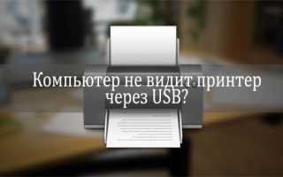 Ноутбук не видит принтер по usb: как установить и что делать