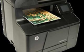 HP laserjet pro 200 color mfp m276n один цвет печатает негативом