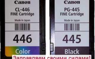 Краска для принтера Canon: как заправить Pixma MG2440, MG2540S